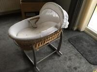 Moses basket and x2 stands