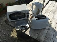 Small oven grill, kettle , toaster