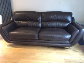 Three seater and two seater sofa for sale, in very good used condition, footstool also available