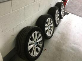 "BMW 16"" Alloys. Excellent tyres. 195 55 16. 1 3 5 series."
