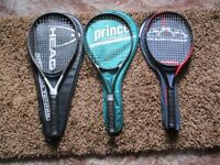 Head & Prince tennis rackets, excellent condition