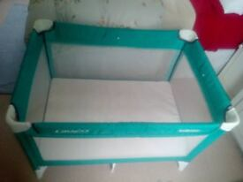 Travel Cot with Mattress