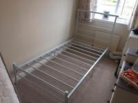 White metal Single bed frame ***£50ono***