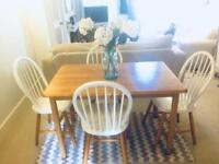 Gorgeous Ercol-styled wooden dining room table and 4 chairs