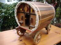 Hand Crafted,Timber,Gypsy Caravan,Model. Approx 14 Inches Long.
