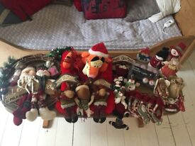 Large bundle of Christmas decorations