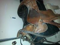 "14"" western saddle and accessories"