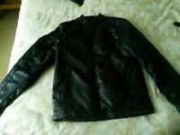 Fake leather teen jacket