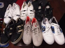 6 pairs of various labled training shoes all size 8