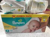 128 Pampers size 1 nappies