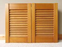 Slimline solid wood bathroom cabinet
