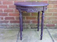 Regency style flower lamp table