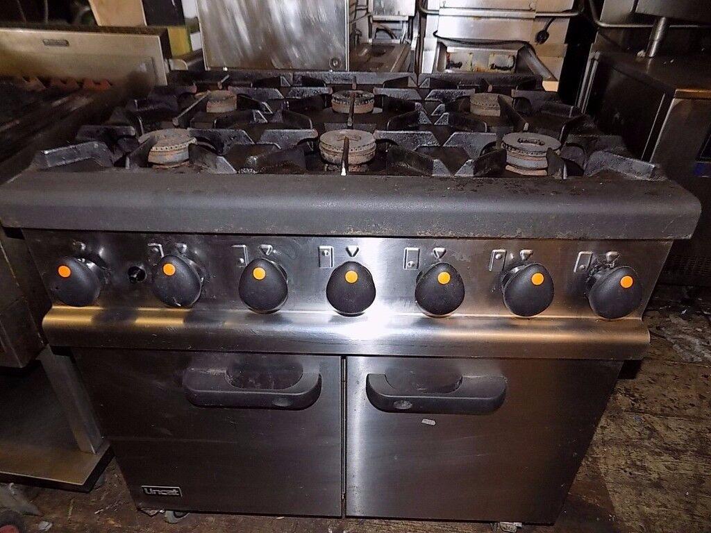 lincat opus gas 6 burner cooker / oven will post