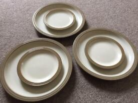 Denby Pampas dinner and side plates
