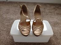 Nine West Gold High Heel Sandals