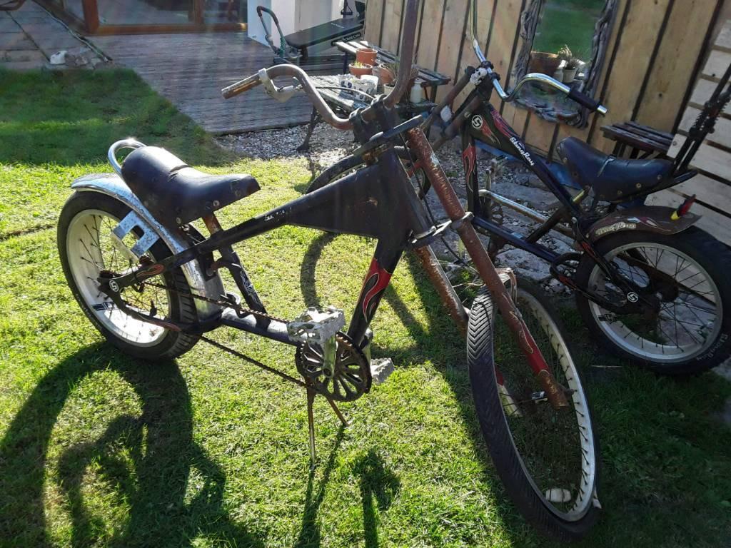 2 Stingray Chopper Bikes For Restoration Or Parts Rat