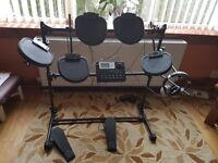 DIGITAL DRUM KIT WITH STOOL, HEADPHONES AND INSTRUCTIONS