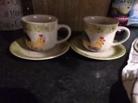 Scott's of Stow country cups&saucers