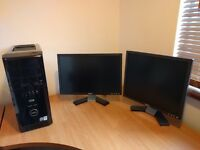 Dell XPS 420 PC and 2 x Dell Montiors