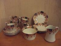 Vintage phoenix ware tea set (5 cups & saucers)