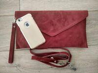 Lady Suede Envelope Clutch Bag