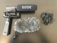 Professional Rode Mic with DSLR fixture extension