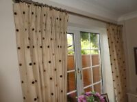 Lovely Triple Curtains, blackout lining. Hand made, different sizes.