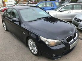 2005/55 BMW 535D M SPORT,2 OWNERS,CARBON BLACK METALLIC,SERVICE HISTORY,STUNNING LOOKS+DRIVES WELL
