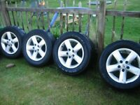 """Qashqai 16"""" alloy wheels and Tyres, only £30 each, grab a bargain."""