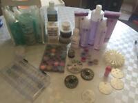 Manicure, pedicure and nail art set
