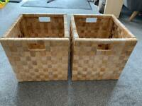 IKEA STRONG SOLID KALLAX EXPEDIT STORAGE BOXES x 2