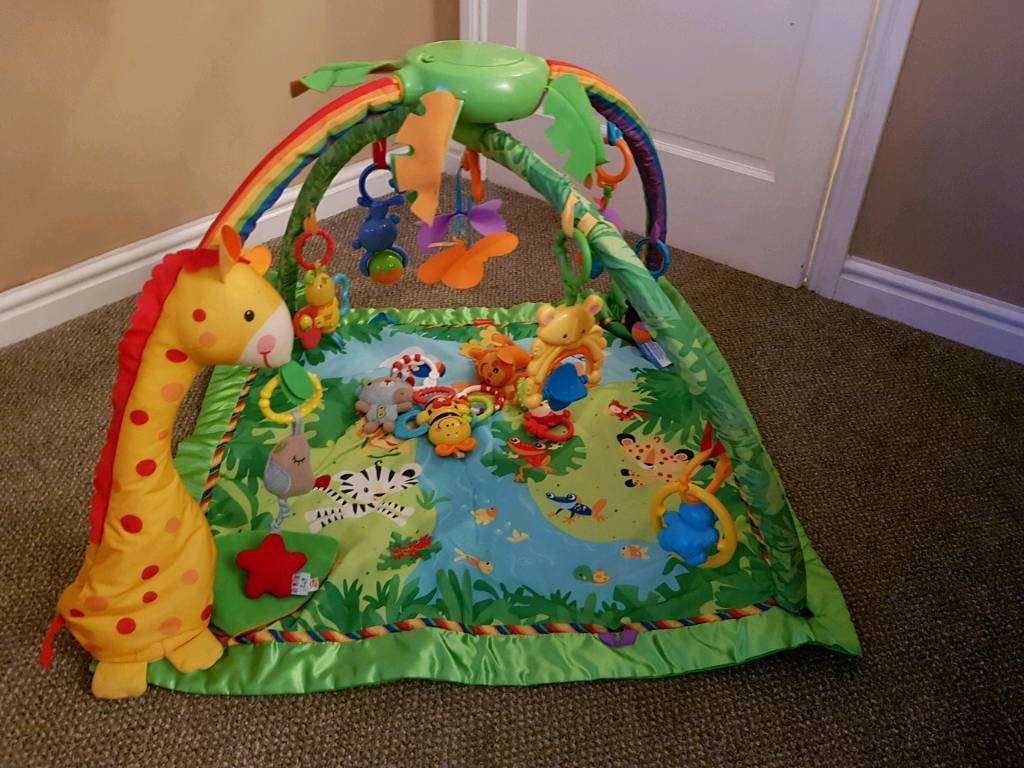 Fisher price rain forest bouncer and playmat