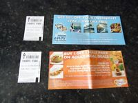2 x Adult tickets for Thorpe Park, valid for use on Saturday 24th September 2016