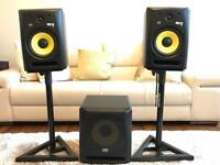 KRK Rokit RP8 G2 Studio Monitors with Stands ****Please Note Subwoofer being sold Separately****