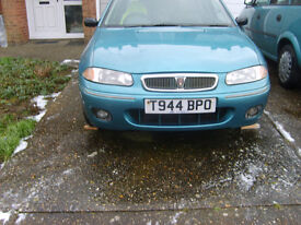 rover 200,90k,t reg,new headgasket fitted with reciepts,,runs,needs alternator as bearing gone