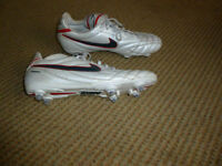 White/Silver football boots by Nike