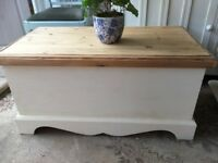 Vintage Pine Blanket Box chest Toy Box Seat