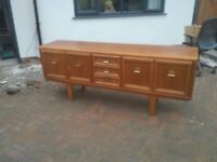 Genuine vintage retro soli wood sideboard