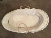 White Moses basket excellent condition
