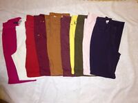 10 pairs size 14 coloured jeans