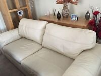 Large chunky 3 seater 2x arm chairs