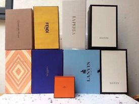 I BUY ALL KINDS OF BIG DESIGNER BRANDS EMPTY BOXES, EMPTY CARRIER/SHOPPING BAGS & EMPTY WATCH BOXES