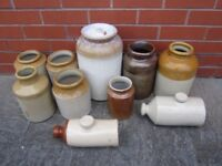 Antique collection salt glaze stoneware jars pots Hot Water Bottle Bed Warmer or £8 each