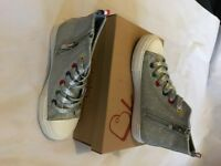 Girls Silver Sparkly Converse - Brand New