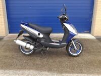 2014 jonway madness 125cc alarmed scooter very low miles mint bike