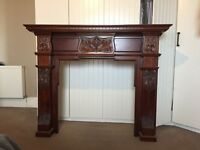 Ornate Hardwood Fire Surround