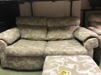 Sofa bed + chair + ottoman door rest