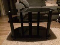 John Lewis black glass TV stand