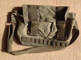 Ted Baker green canvas messenger bag