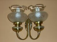 WALL LIGHTS, BRASS, VINTAGE STYLE